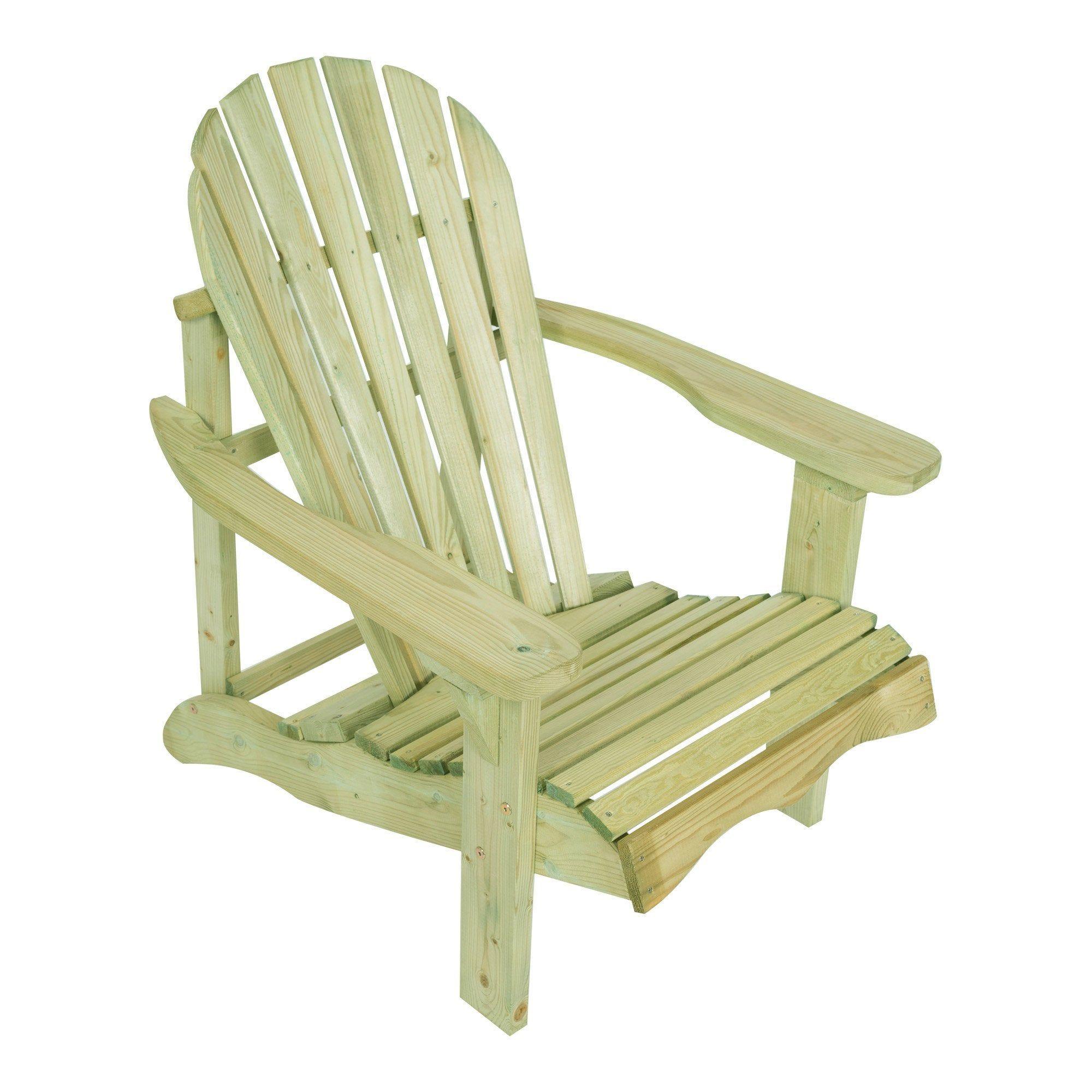 Fauteuil De Jardin En Bois Relax Naturel In 2020 Porch Chairs Outdoor Chairs Outdoor Decor