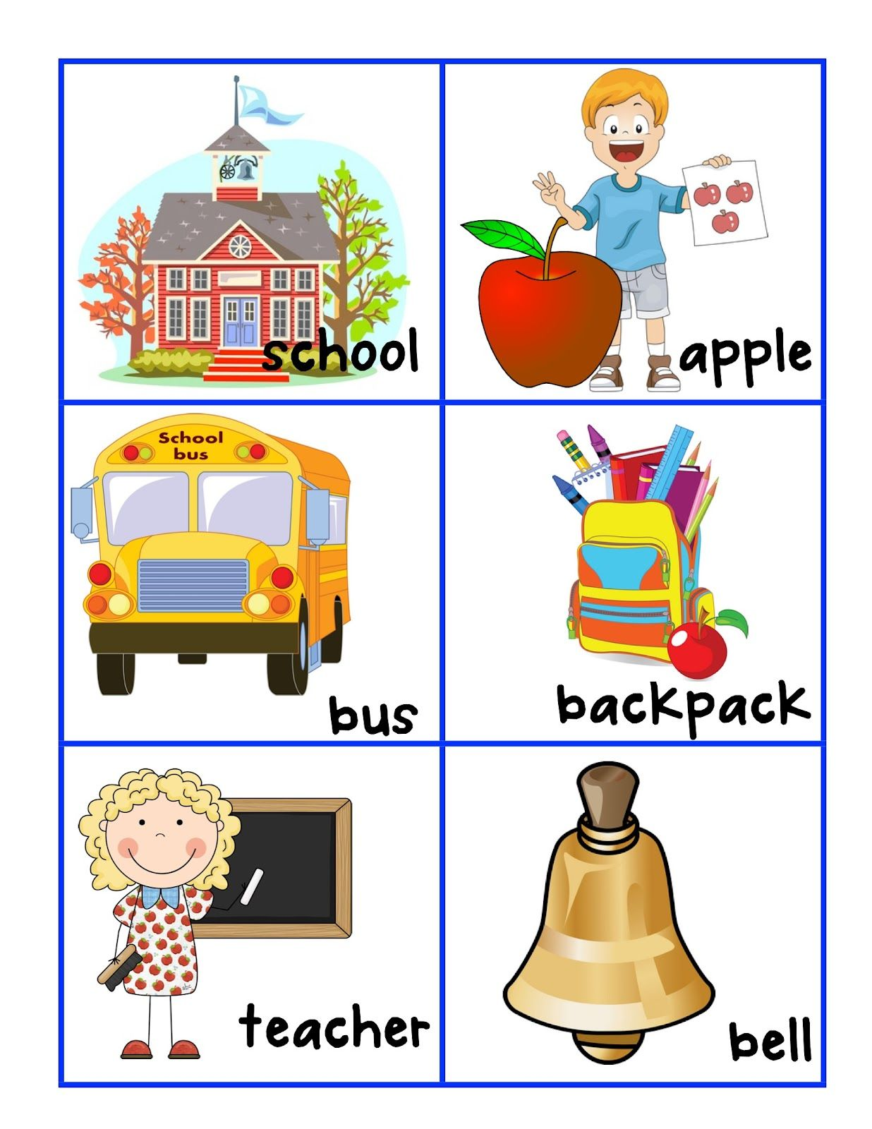 Free Back To School Word Wall Freebie