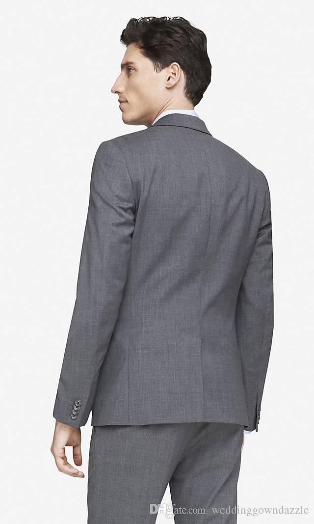 Best New 2015 Groom Tuxedos Long sleeve Custom Made Slim Fit ...