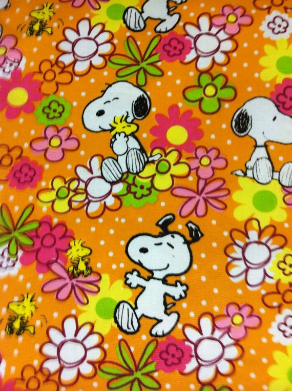 Snoopy Boppy Cover Peanuts Floral Woodstock