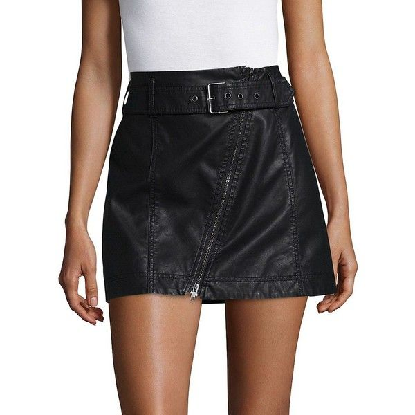 03fbbb2a9 Free People Women's Feeling Fresh Skirt ($78) ❤ liked on Polyvore featuring  skirts, copper, knee length leather skirt, free people skirts, leather  zipper ...