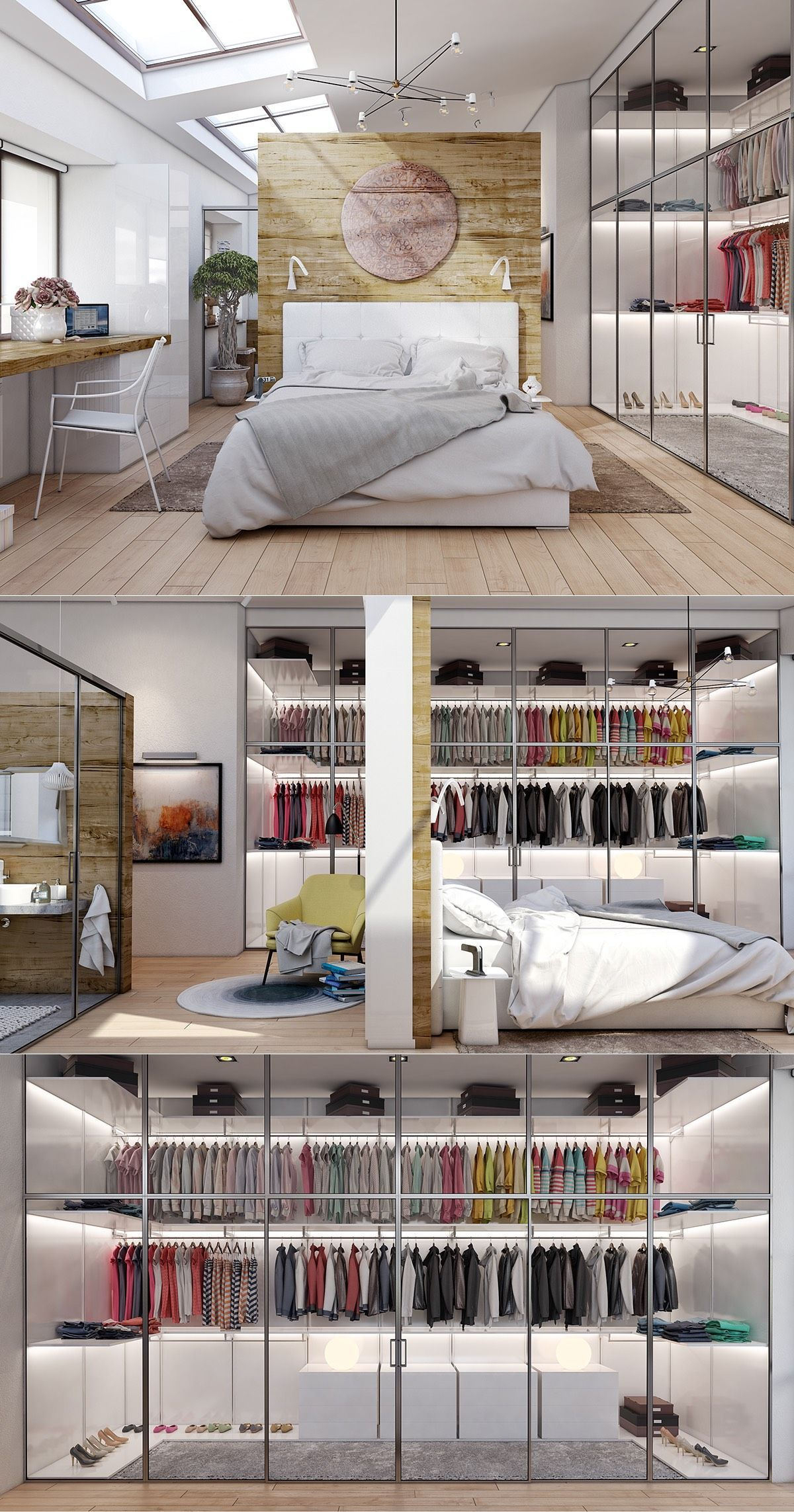 Best 20 Beautiful Examples Of Bedrooms With Attached Wardrobes 400 x 300