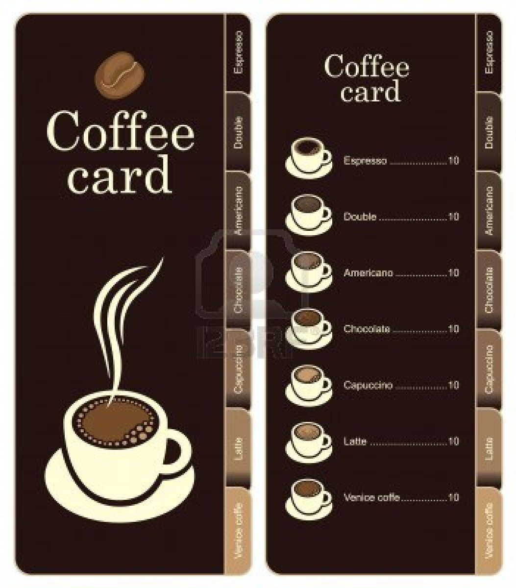Coffee Menu Card For Different Types Of Coffee Coffee Menu Coffee Type Coffee Cards