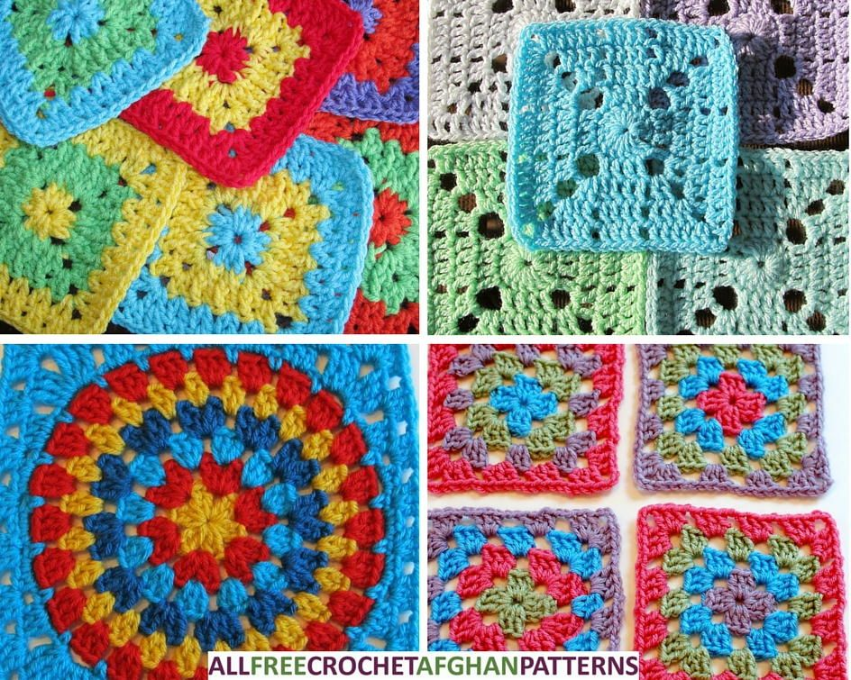46 Easy Crochet Granny Square Patterns | Easy crochet, Crochet ...