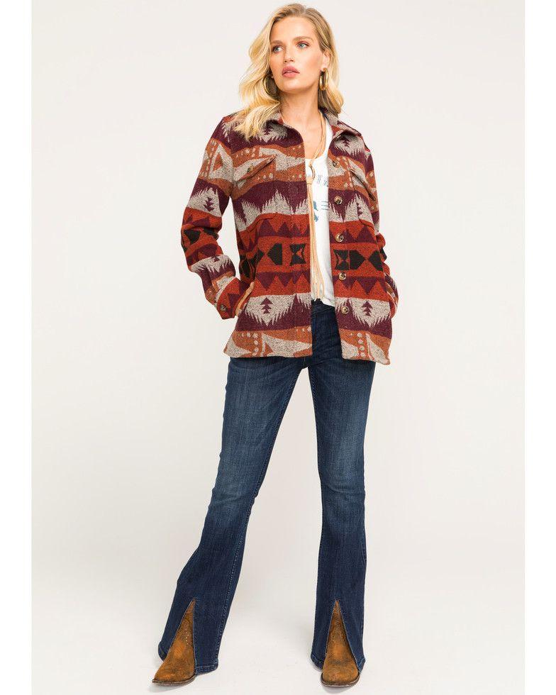 c47085277 Idyllwind Women's Rising Sun Shirt Jacket, Rust Copper   {She's Got ...