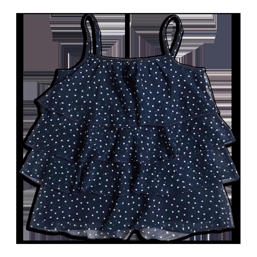 Volangtopp, Blå, Jente 128-170 cm, Barn | Lindex