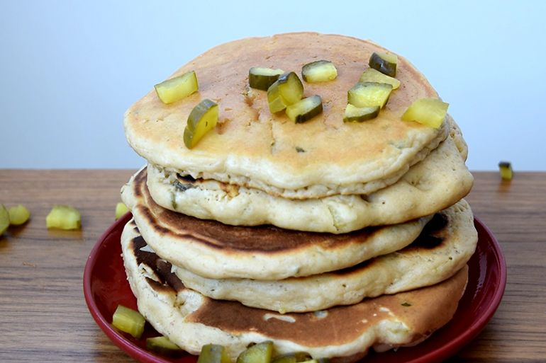 Peanut Butter Pickle Pancakes Sound Weird, But Taste Delicious