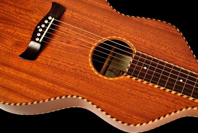 Twisted Wood Original Mahogany Weissenborn Slide Guitar Slide Guitar Guitar Recording Studio Equipment