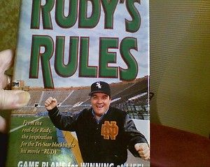 Autographed Copy Of Rudy S Rules The Story Of The University Of Notre Dame Underdog Who Became One Of T Notre Dame University Motivational Speaker Motivation