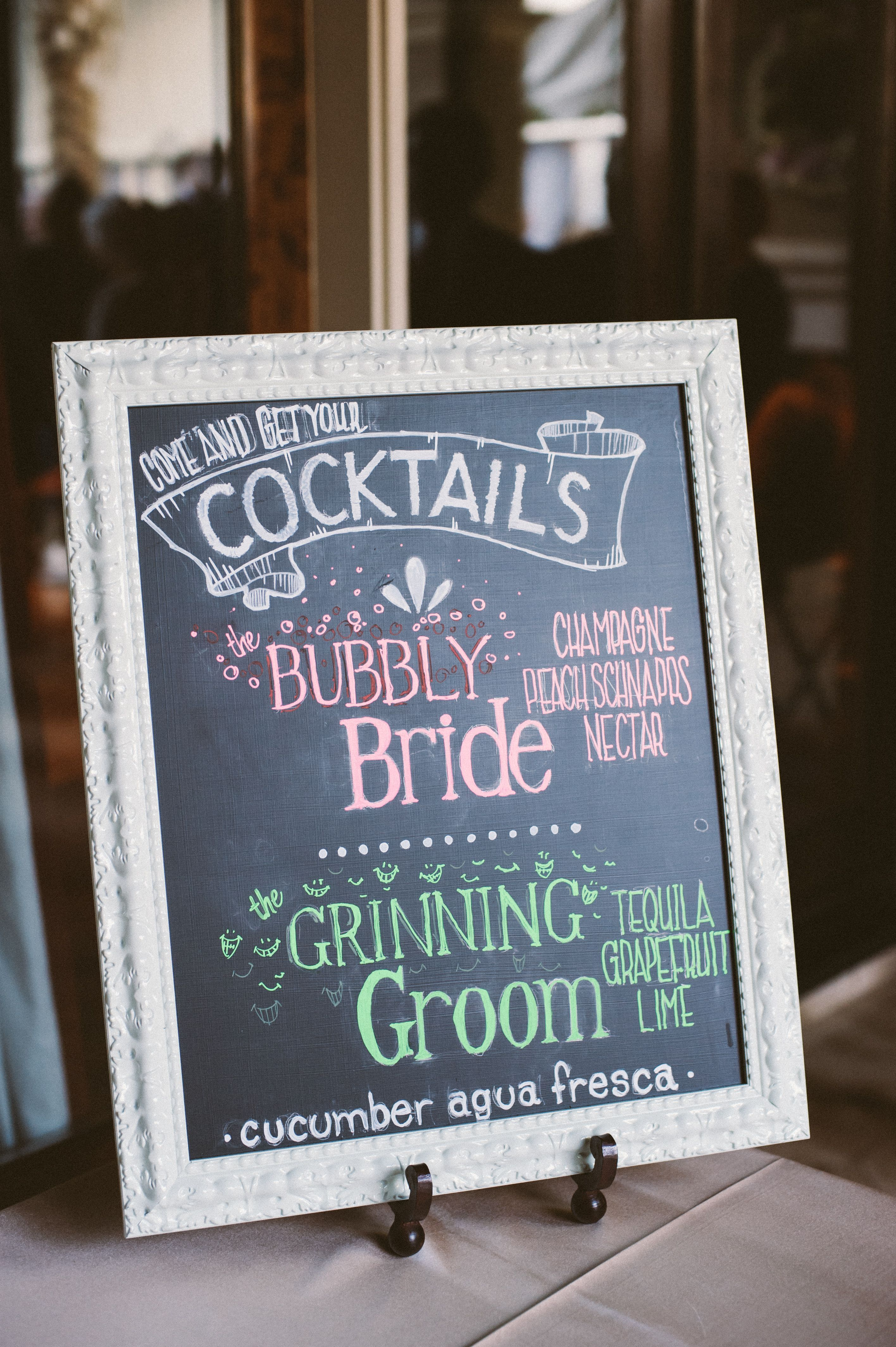 Customized Bride and Groom Cocktail Reception Cocktail