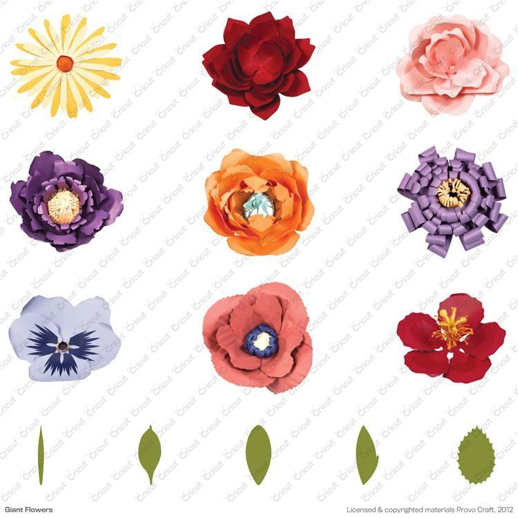 Cricut Giant Flowers Handbook And Assembly Instructions Cricut