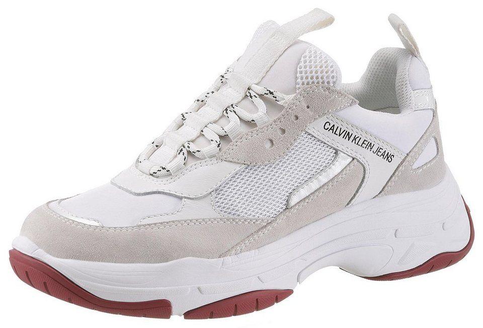 huge selection of 7b64e 3f953 Calvin Klein »Maya« Sneaker im trendigen Materialmix für 140,00€. Sportiver  Halbschuh mit weich gepolsterten Schaftrand bei OTTO