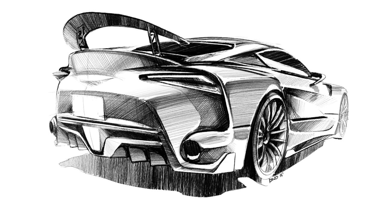 Эскиз автомобиля картинка