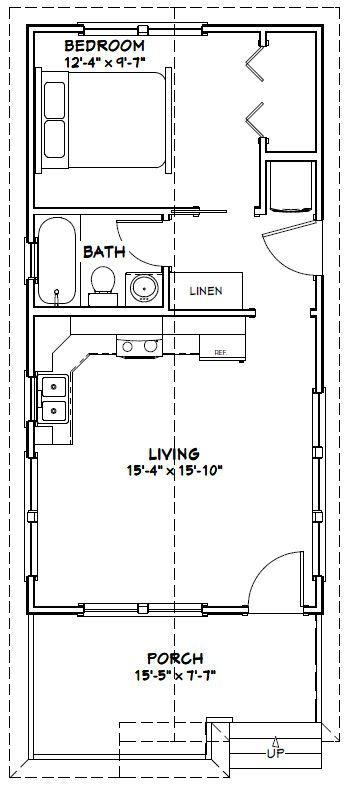 16x32 tiny house 511 sq ft pdf floor plan model on best tiny house plan design ideas id=84495