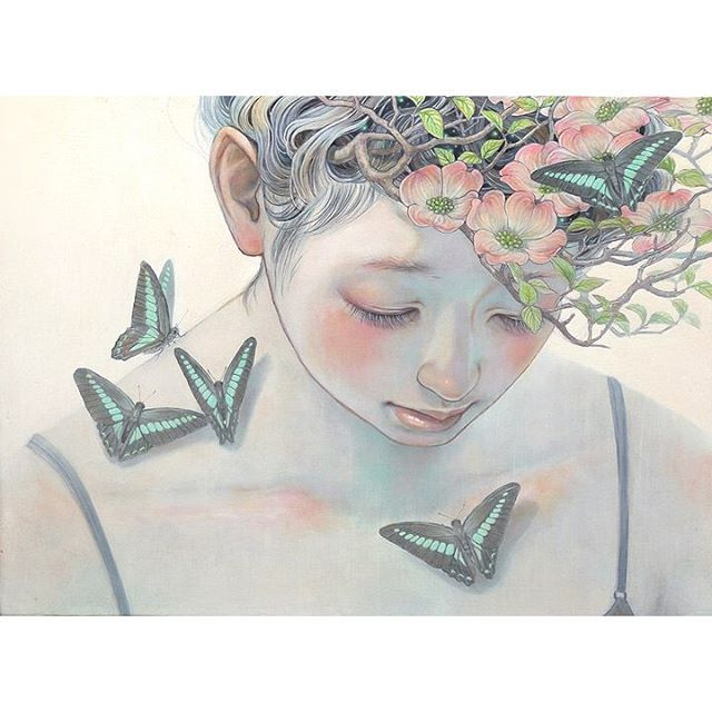 Miho-Hirano-Small-Daybreak-oil-on-canvas.-18-x-13-Miho-Hiranos-new-body-of-work-entitled-Beauties-Of.jpg (640×640)