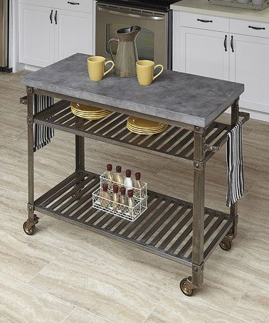 This Gray Urban Style Kitchen Cart by Home Styles is perfect! #zulilyfinds