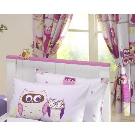 Nina HOOT OWLS GIRLS LUXURY FULLY LINED CURTAINS SET 66\
