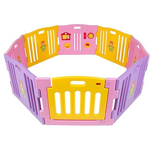 3a2c29661 Baby Playpen Kids 8 Panel Safety Play Center Yard Home Indoor ...