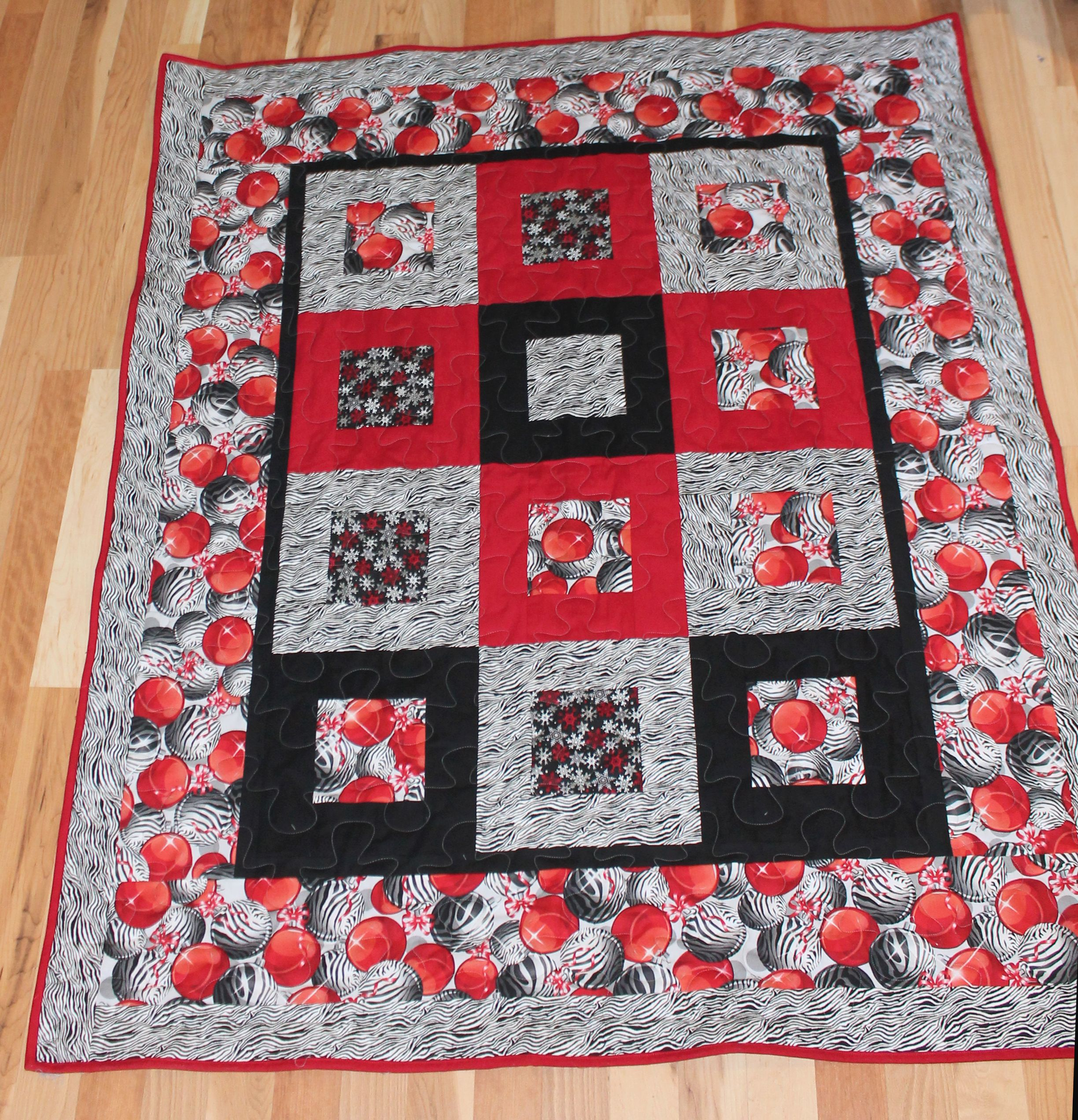 Wild N Crazy Lap Quilt Christmas Gift for a friend (2014) | My Quilt ...