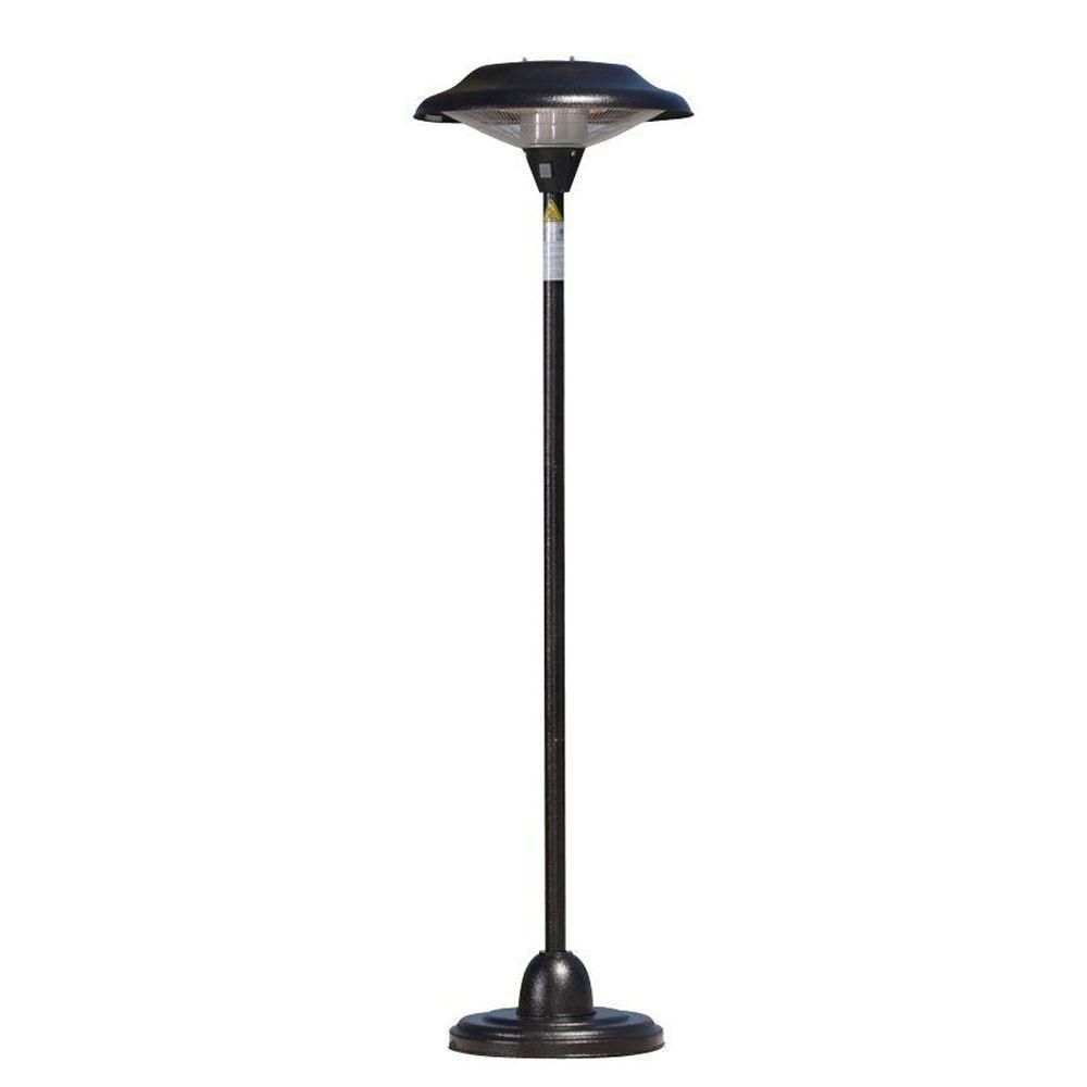 Fire sense watt hammered bronze standing halogen patio heater