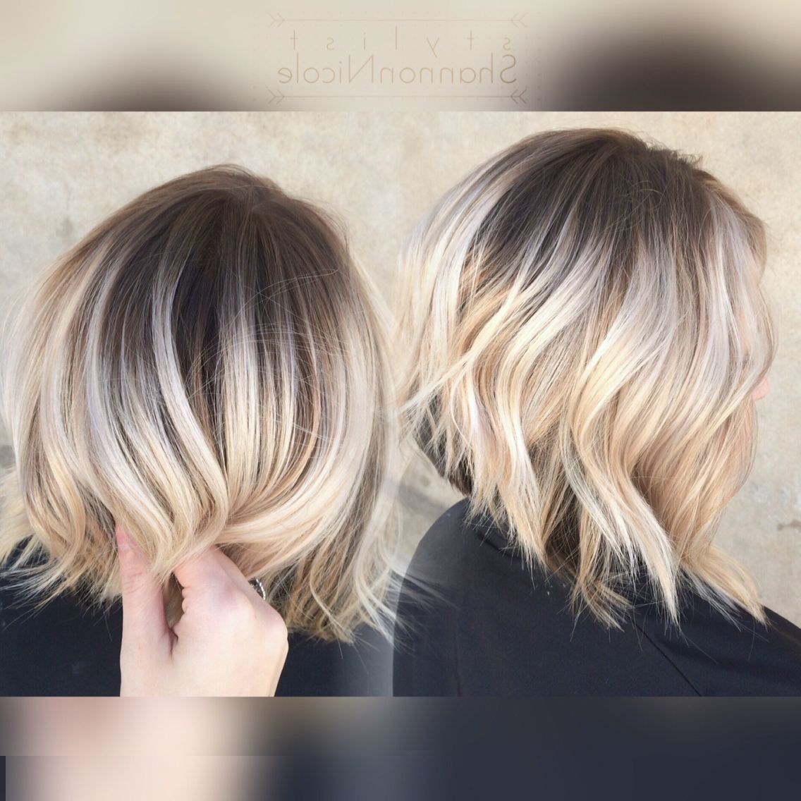 Image Result For Ash Blonde And Ash Silver Balayage Lob With