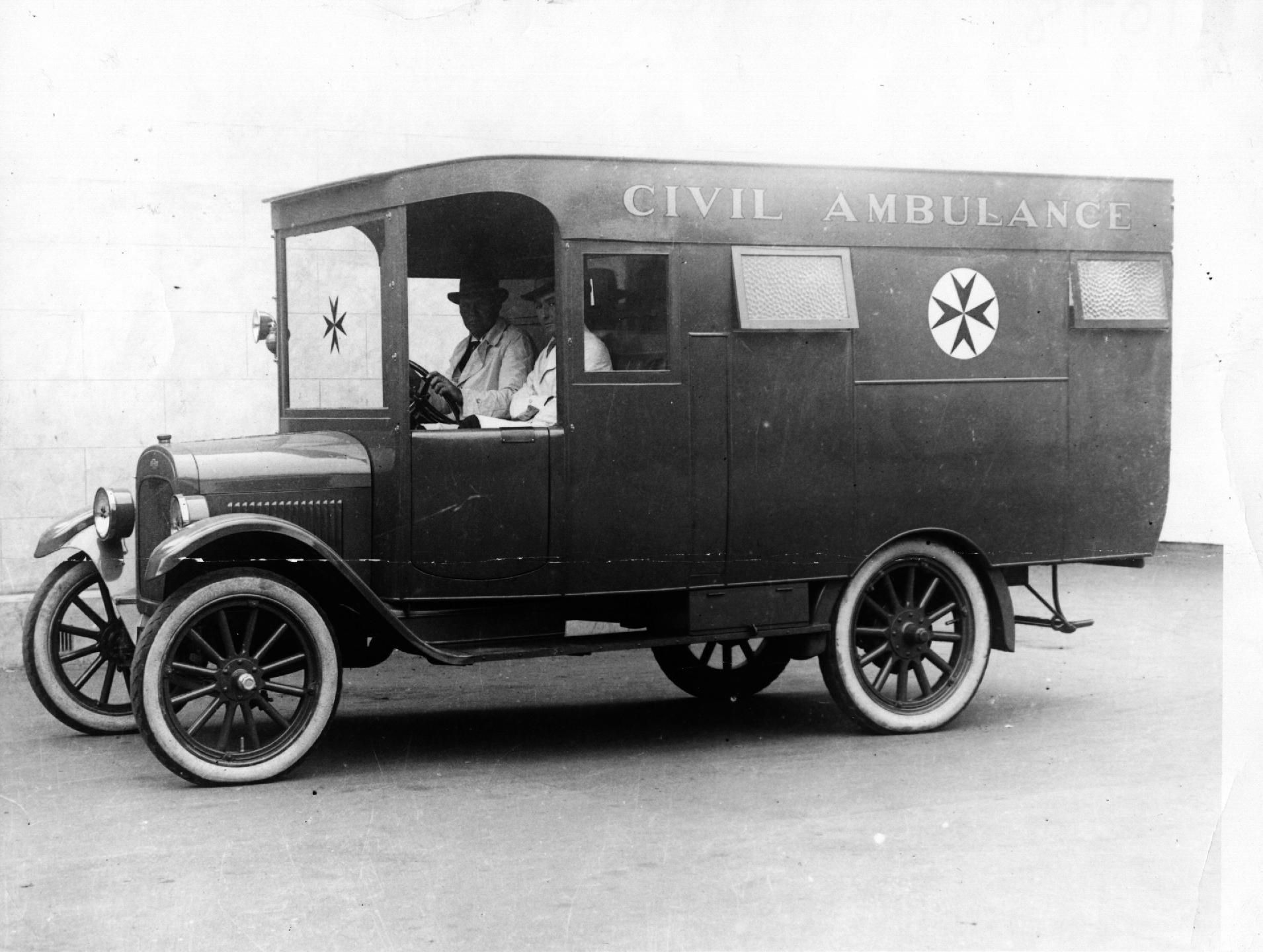 Originally operated by the Snowy Mountains Authority and stationed at Adaminaby in NSW S.A. Civil Ambulance Vehicle Chev 4. 1926