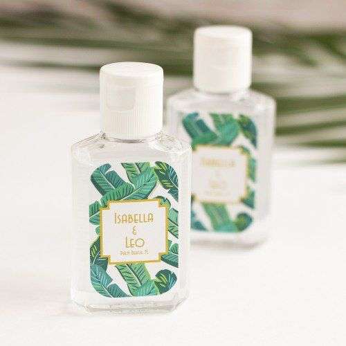 Personalized Hand Sanitizer Wedding Shower Favors Bridal Shower