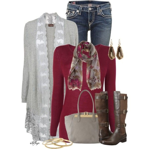 Floral in Winter, created by kginger on Polyvore
