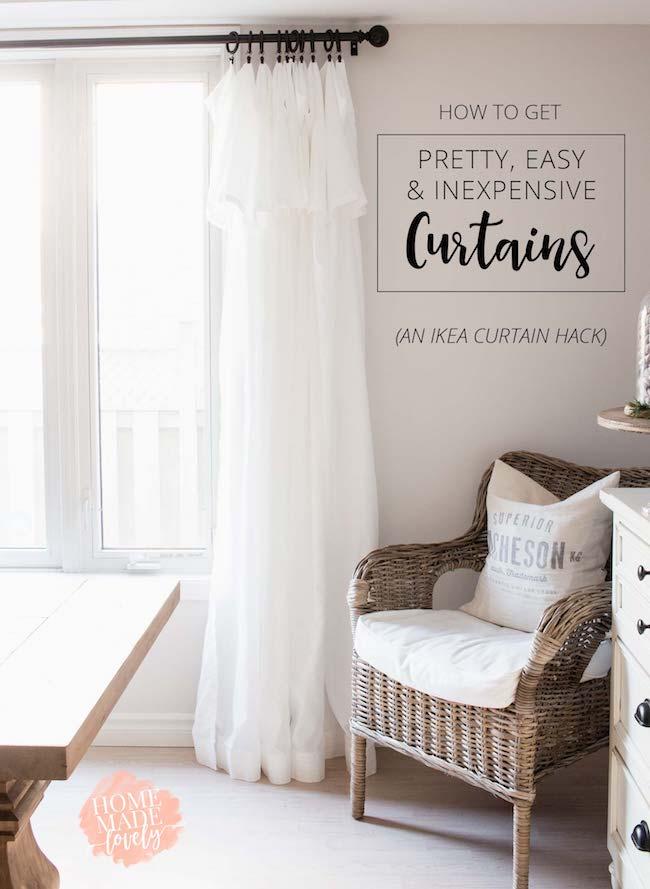 20 Fantastic Farmhouse Style Ikea Hacks Inexpensive Curtains Ikea Curtains Kid Room Decor