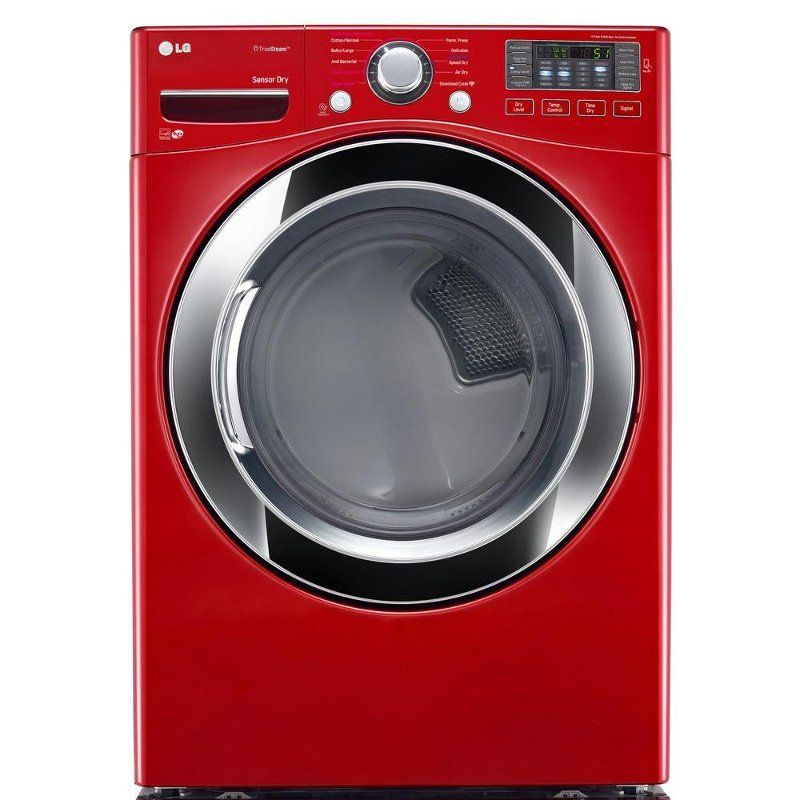 Lg Electric Dryer With Nfc Tag On 7 4 Cu Ft Red Laundry Room Storage Laundry Laundry Room