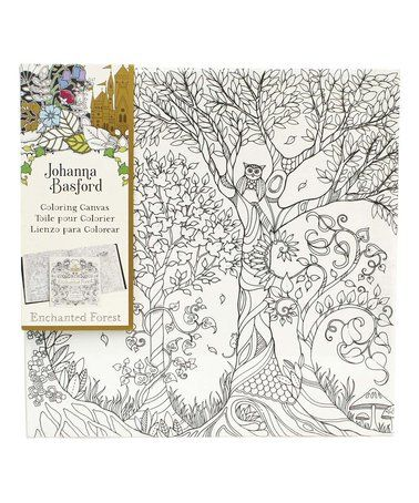 Enchanted Forest Owl In Tree Coloring Canvas By Johanna Basford