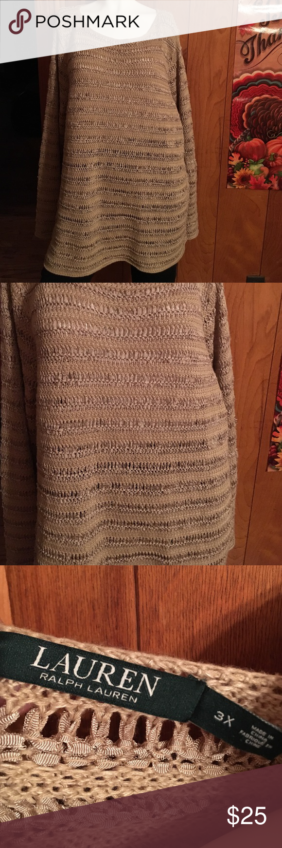 lovely plus size ralph lauren knitted sweater | ラルフ・ローレン