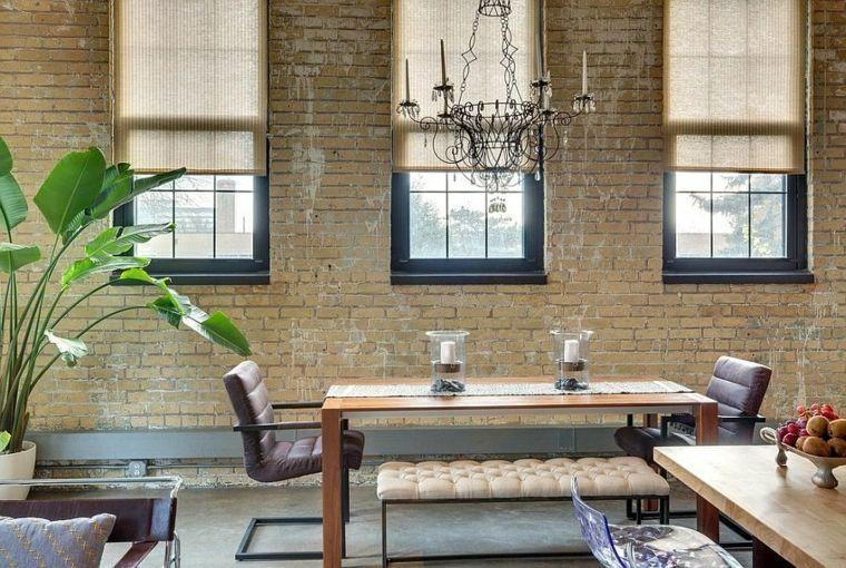 Déco salle à manger avec mur brique  50 idées originales