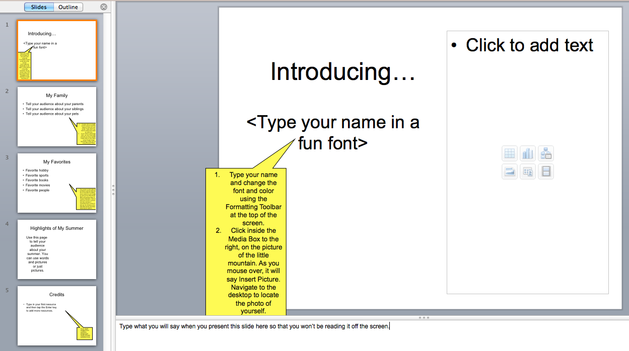 Th Grade Autobiography Powerpoint Template  Comprehension