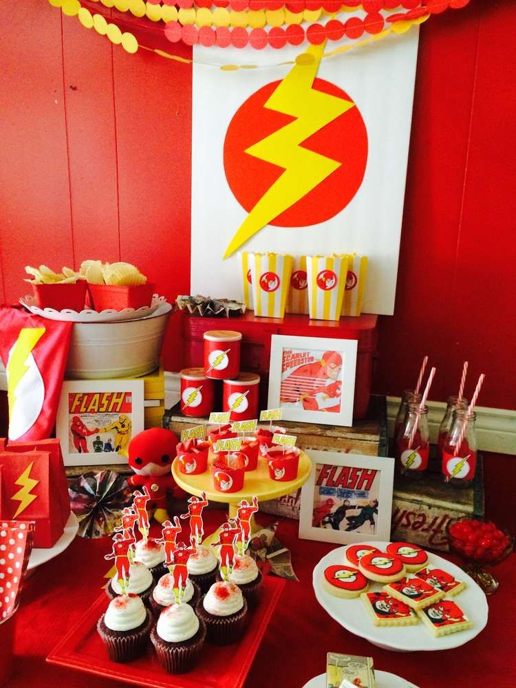 the flash superhero birthday party ideas in 2018 superhero party ideas pinterest birthday. Black Bedroom Furniture Sets. Home Design Ideas