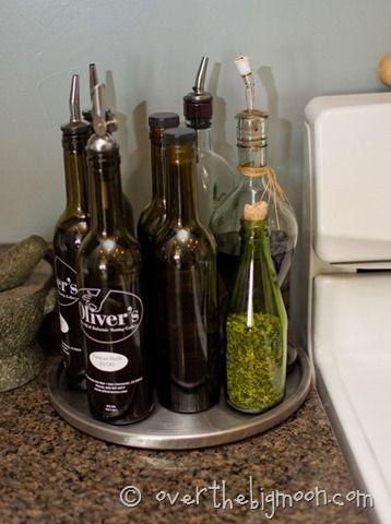 organizing oils and vinegar old bottles kitchen decor kitchen redo on kitchen organization oil and vinegar id=66503