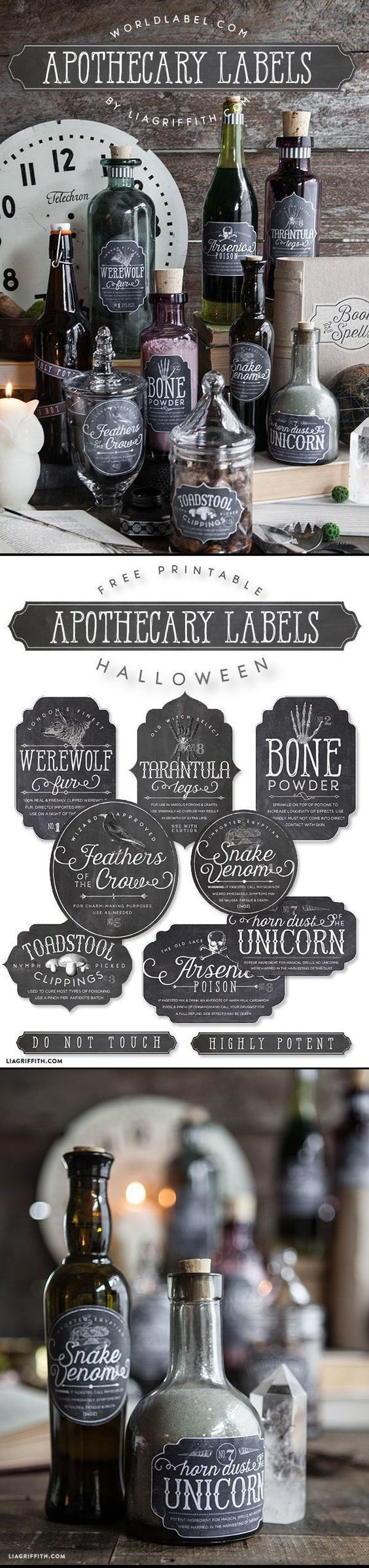 free printable apothecary labels for halloween