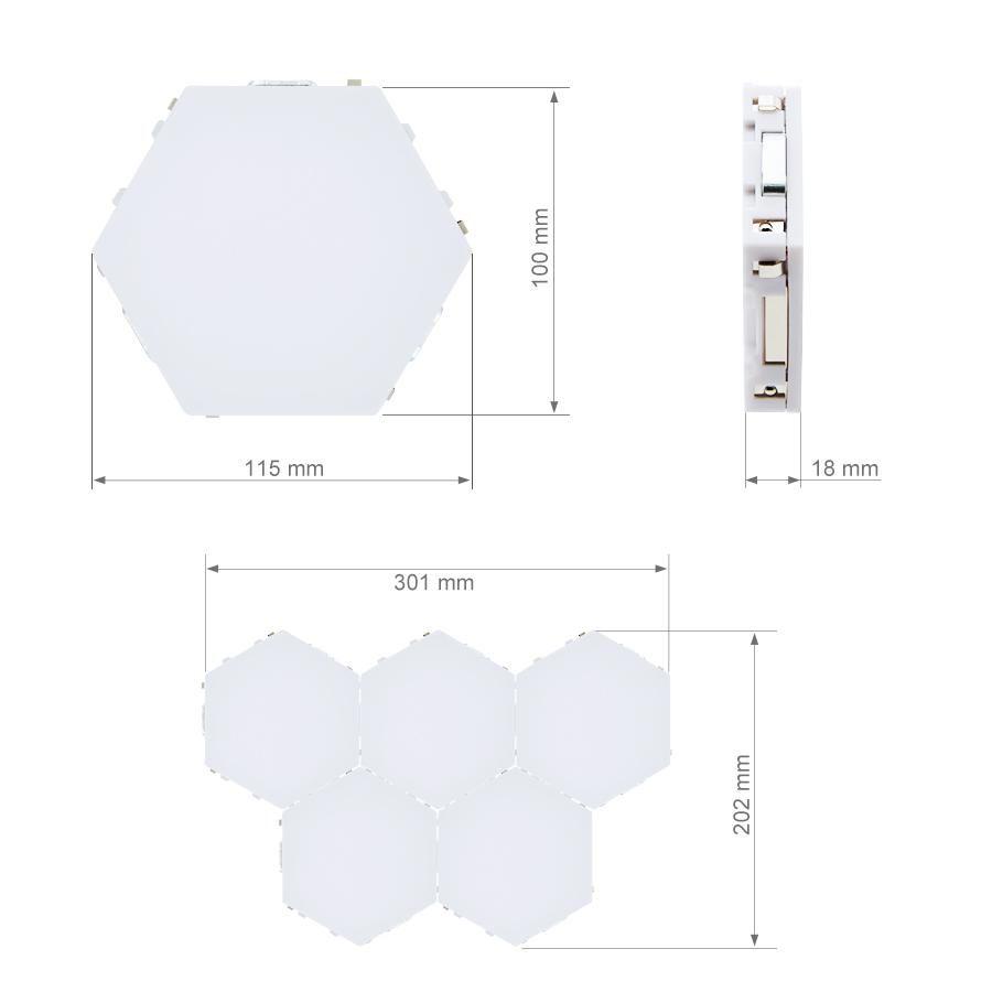Led Hexagonal Touch Sensitive Lights 2020