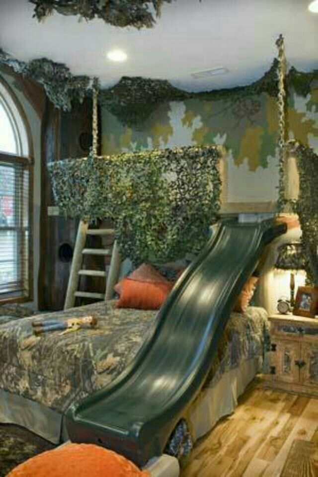 Duck Blind Bed With A Slide On Top Kids Beds Pinterest