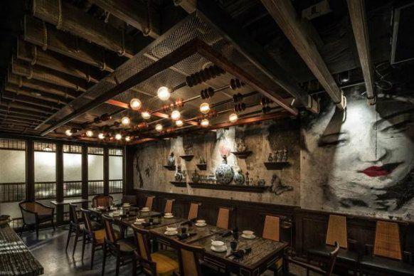 Mott 32 private dining room interior FB Pinterest