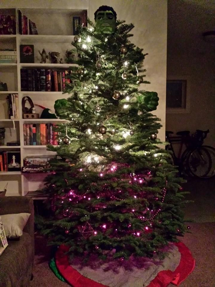 Ho Ho Hulk Smash Christmas Tree Inspiration Superhero Christmas Creepy Christmas