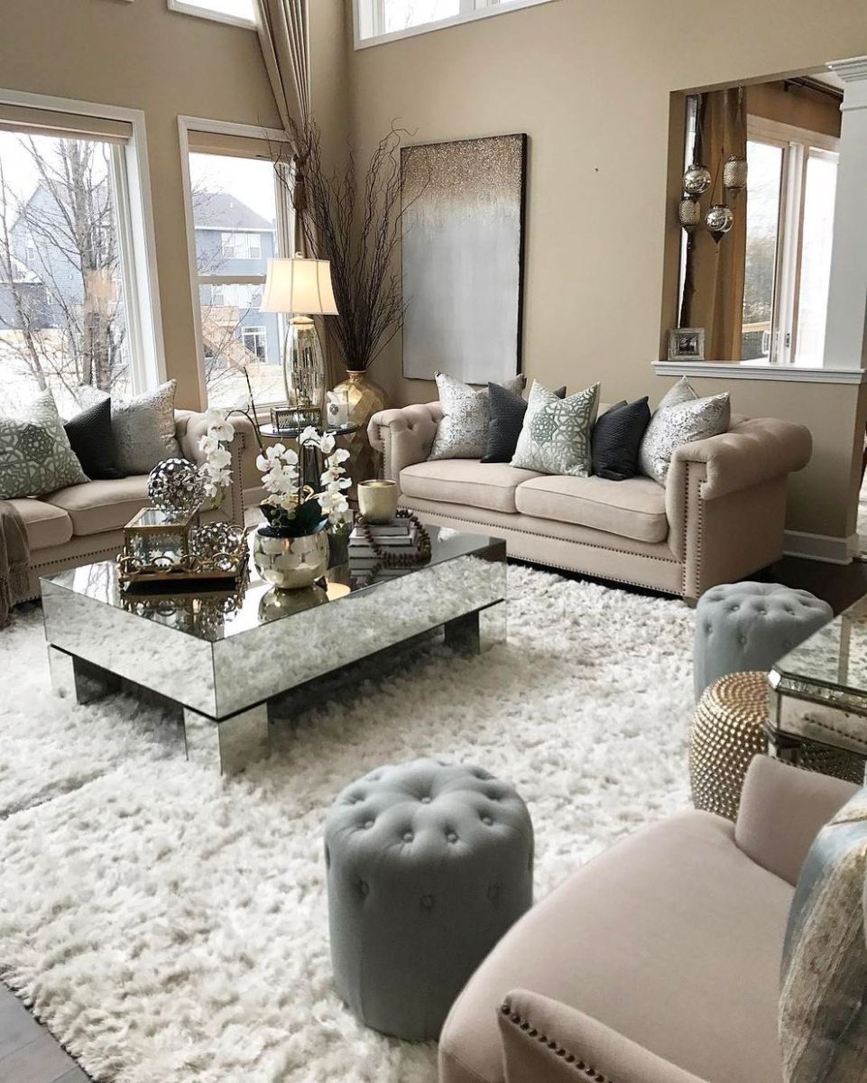 Living Room Accessories Silver