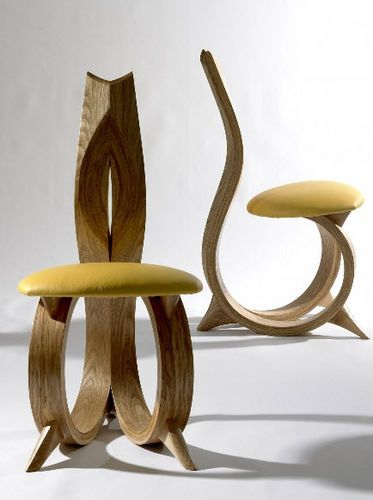 Figure Of 6 Organic Design Wood Chair By Joseph Walsh