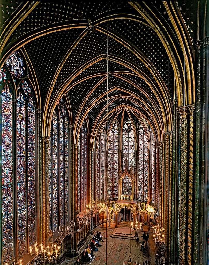 Sainte Chapelle Interior Upper Chapel