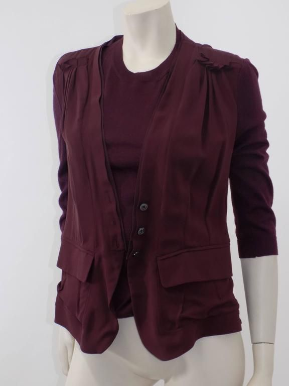 Nina Ricci silk and cashmere sweater set jaket/ top | Nina ricci ...