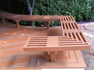 Deck benches composite decking materials review decks for Composite deck material reviews