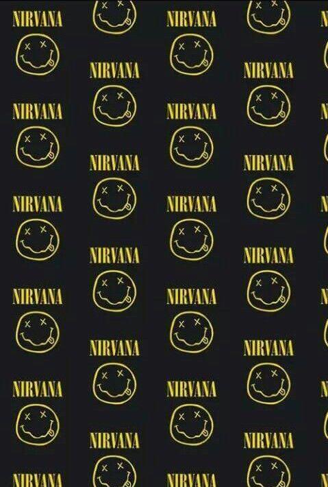 nirvana wallpaper and black image Phone Pinterest Black