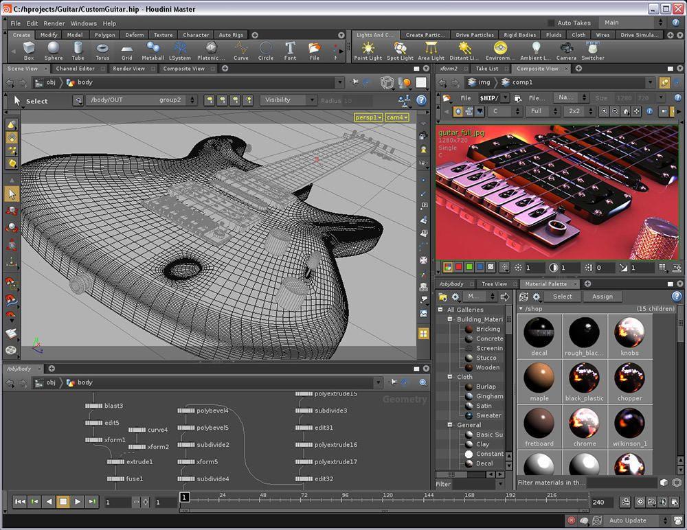 10 Free 3d Modeling Software To Download Hongkiat Free 3d Modeling Software 3d Modeling Software Houdini