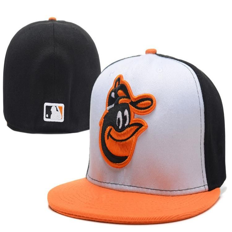 b1a3832ce00 Wholesale  Baltimore  Orioles fitted  hats baseball cap full closure  Orioles hats size flat-brim hat Fitted Caps