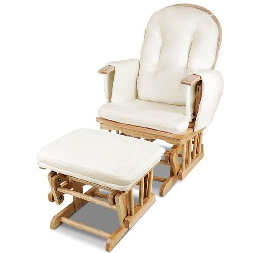 Wooden Glider Breast Feeding Rocking Chair With Ottoman   Natural Wood We  Are Parents Too And We Understand How Important It Is To Choose A Suitable  Glider ...